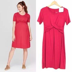 NEW Ingrid & Isabel Maternity Twist Dress Stretchy